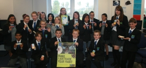 The students of the ACTIVATE group celebrate their Fairtrade achievement