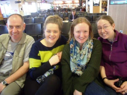 Patrick, Emma, Amy and Christine at London City Airport