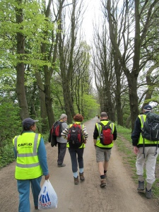 St Anthony's walkers en route