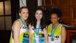 Becky, Charlotte and Beth after the run