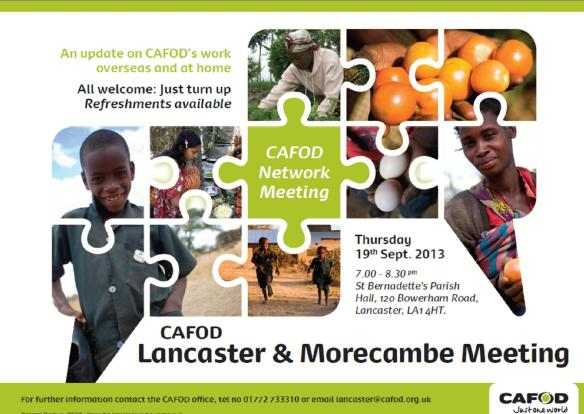 CAFOD L and M poster