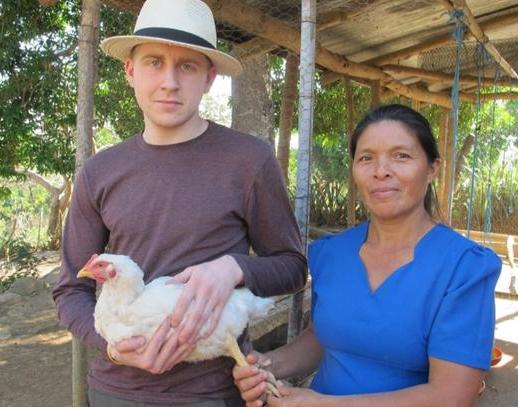 Me with Sibia, and one of her chickens