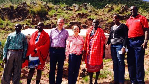 Mark Hoban MP and Catherine McKinnell MP with CAFOD partners in Kenya
