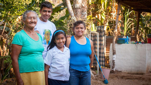 Karen and her family feature in the new Geography pack on El Salvador