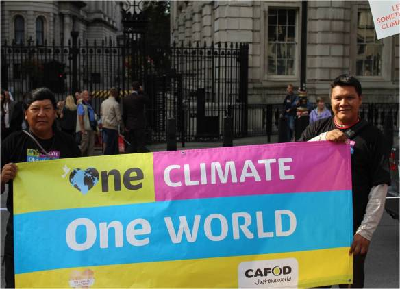 Davi and Mauricio at the Climate Coalition March in London on 21 September