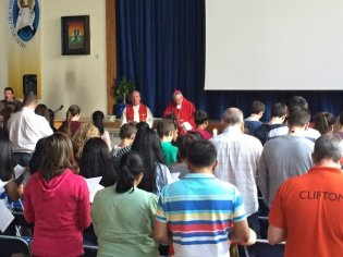 Bishop Declan celebrating mass with Clifton Youth