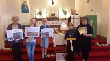 Hayley (far right), CAFOD Deanery Coordinator, with the Holy Family CAFOD group