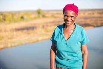 Florence, 41, from Zambia received training in fish farming from CAFOD partner, the Sisters of the Sacred Hearts of Jesus and Mary.