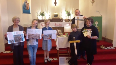 Hayley and the CAFOD parish group at Holy Family, Freckleton and Warton