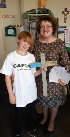 Hayley, right, at the CAFOD Lancaster Volunteer Centre