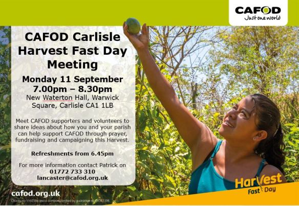 Join us at a Harvest Fast Day briefing to find out how CAFOD has been working with Edelmira from El Salvador