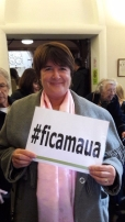 Cath Powell, MBE, supporting #ficamaua