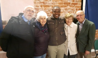 Livsison with volunteers at St John's Poulton
